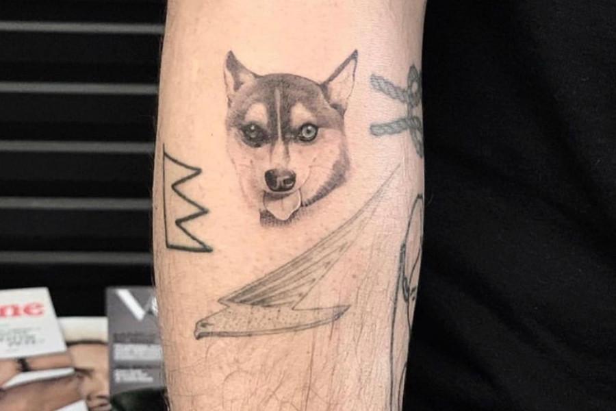 Tattoo of Waldo the Alaskan Klee Kai (Photo: Joe Jonas / Instagram)