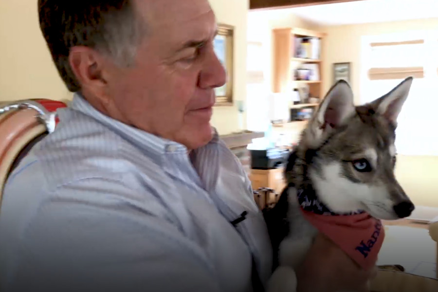 Bill Belichick and Nike (Photo: Screen shot / CNBC)