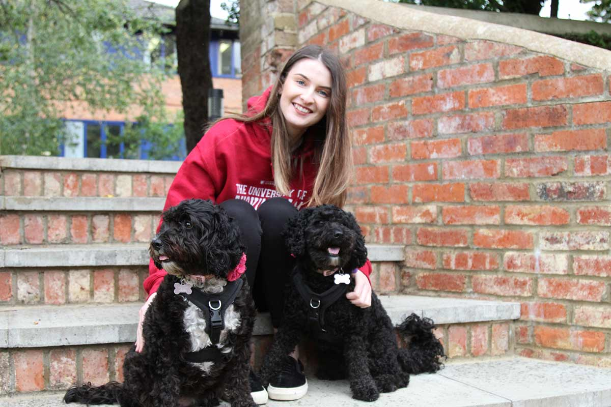 University of Buckingham's therapy dogs Millie and Darcie (Photo: University of Buckingham)
